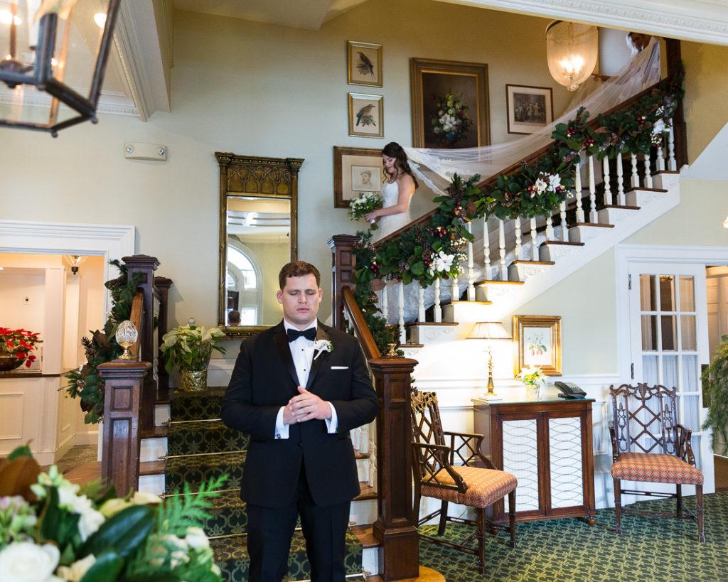Black tie wedding at the Bernards Inn, Bernardsville, NJ
