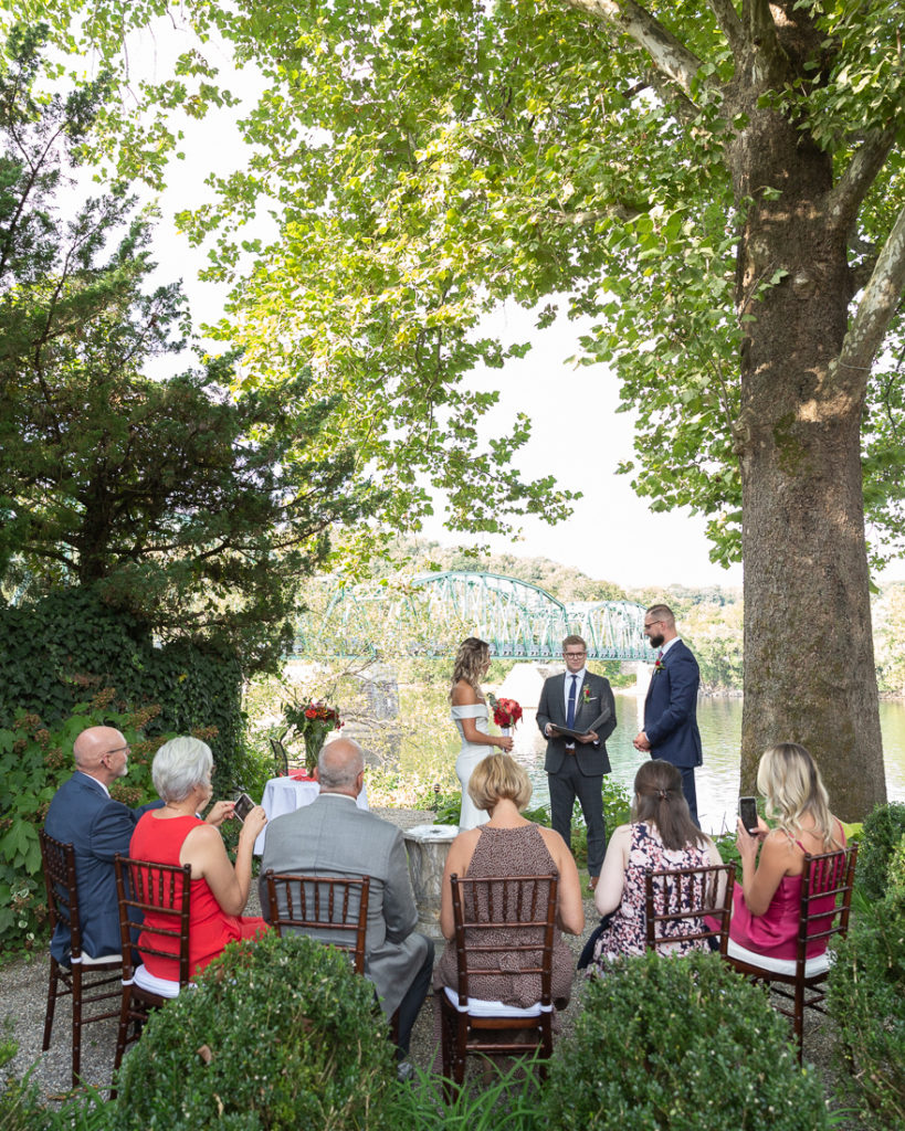 Micro wedding at Bridgeton House on the Delaware, Bucks County, PA