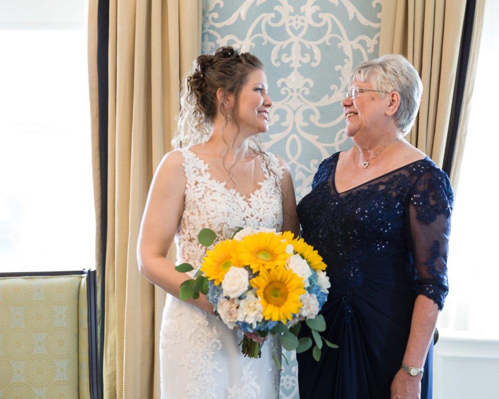 Elegant Bride getting ready at Molly Pitcher Inn in Red Bank, NJ photographed by Laura Billingham Photography