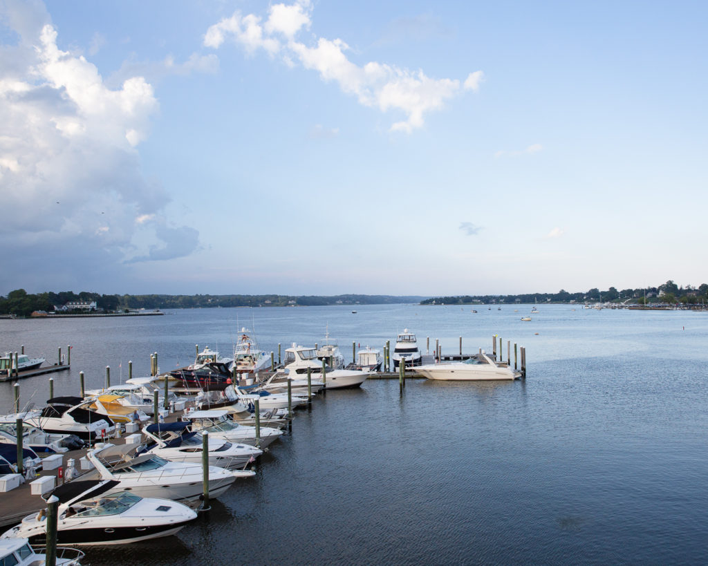 Gorgeous summer skies at the Marina at Molly Pitcher Inn in Red Bank, NJ photographed by wedding photographer Laura Billingham