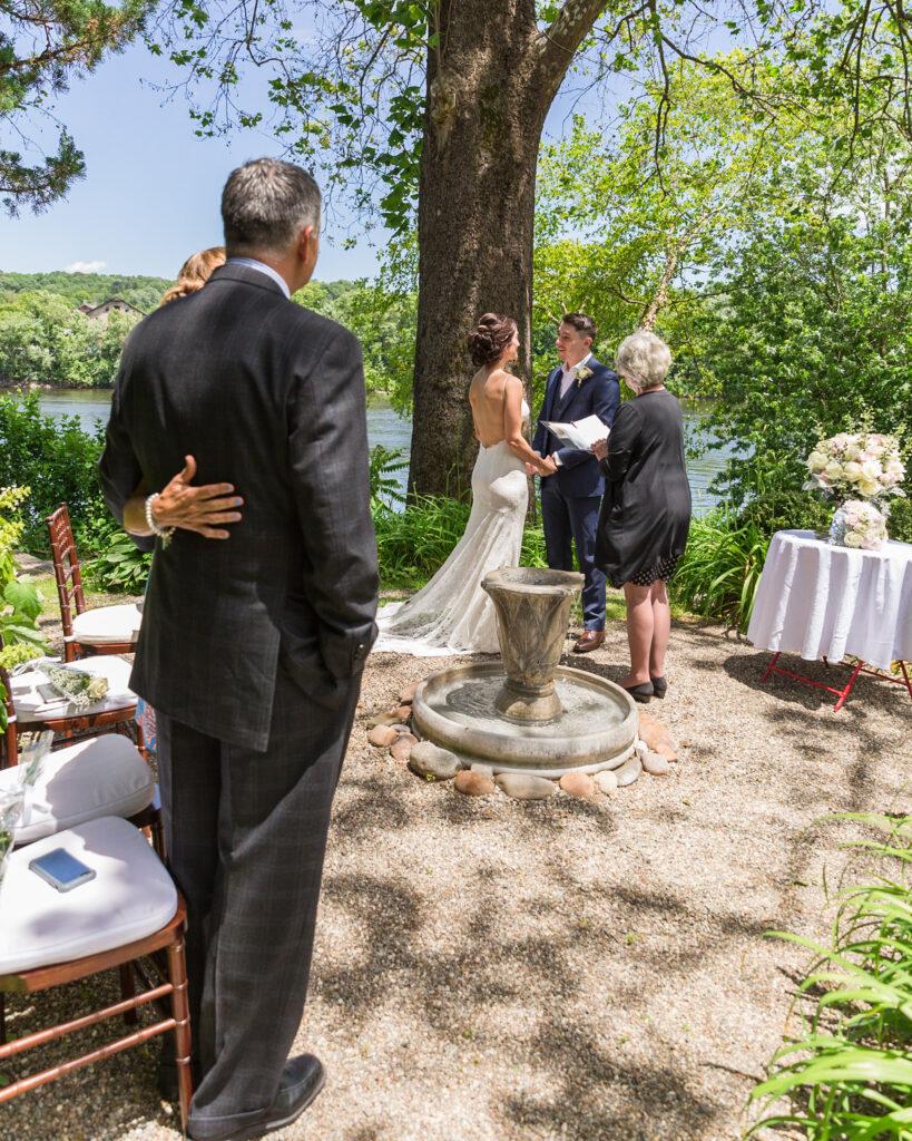 Elegant Micro Wedding at Bridgeton House on the Delaware photography by Laura Billlingham