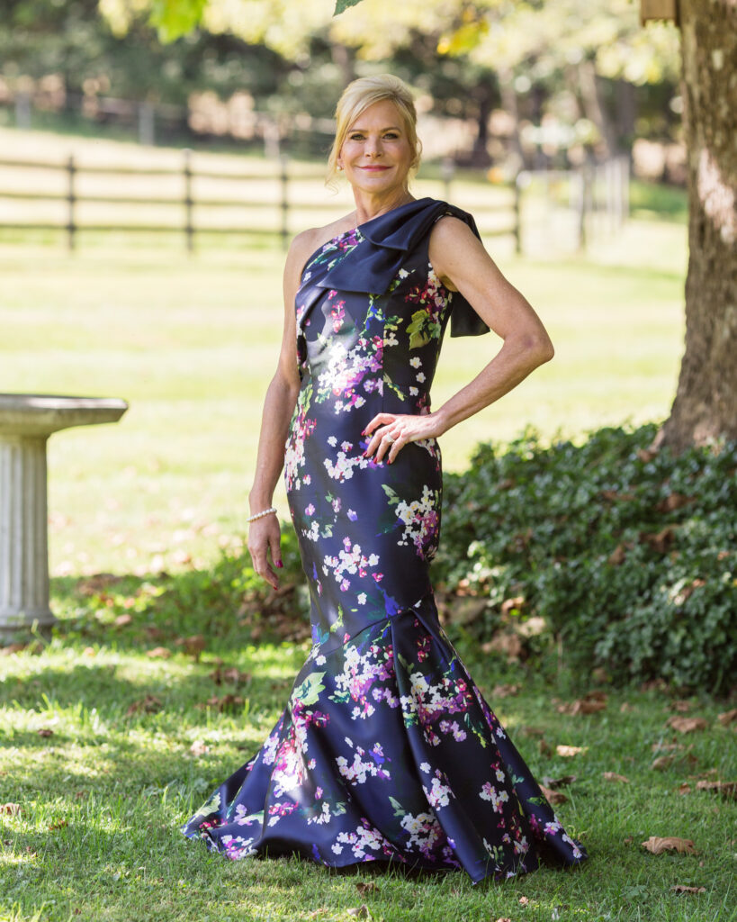 Full length portrait of an elegant bride  under a tree in Pittstown, NJ by Laura Billingham Photography