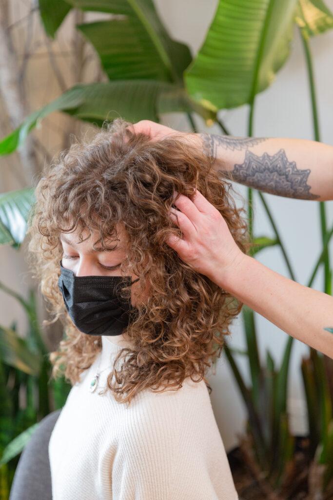 branding photography of luxury hair salon