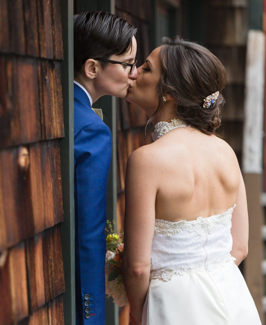 rustic chic same sex wedding at Jack's Barn in Oxford, NJ photography by Laura Billingham
