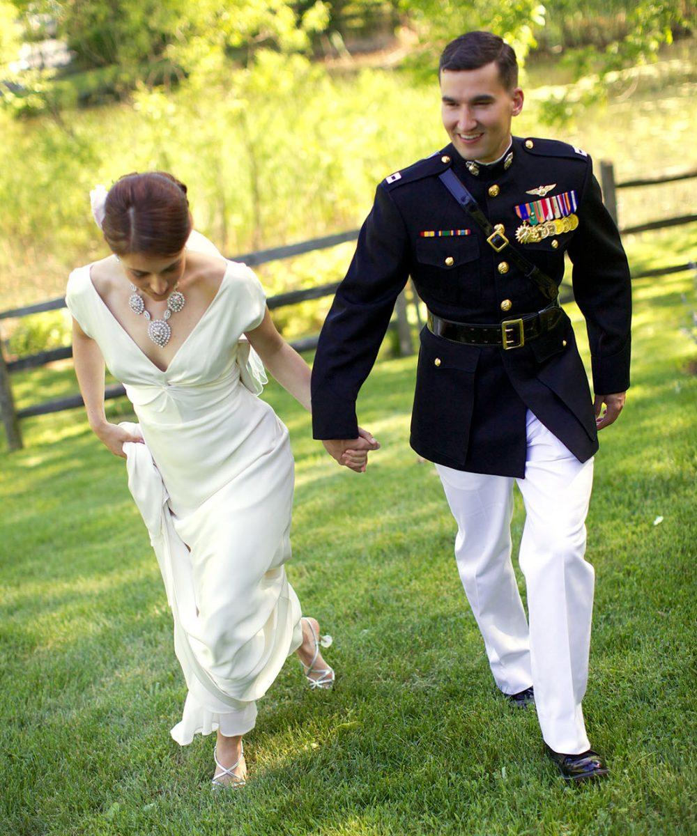 Elegant at home military wedding in Bucks County, PA